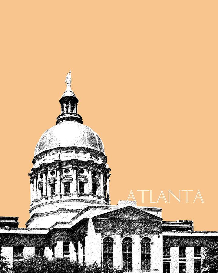 Atlanta Capital Building - Wheat Digital Art