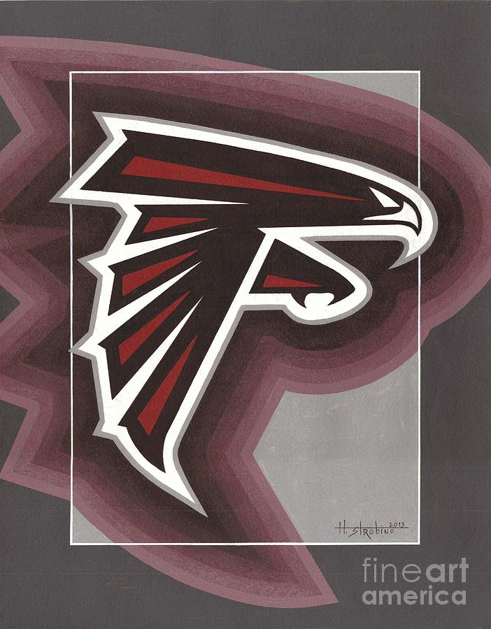 Atlanta Falcons Logo Painting  - Atlanta Falcons Logo Fine Art Print