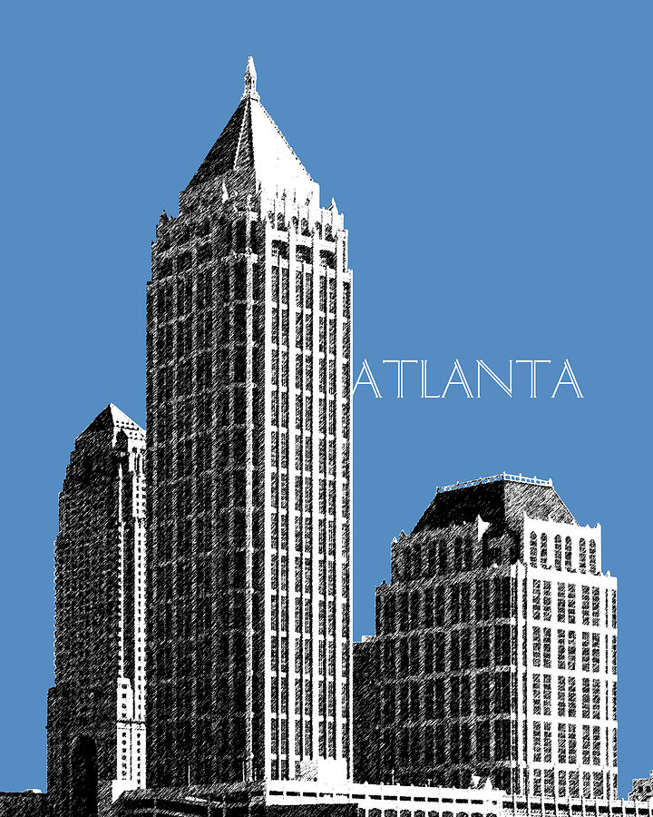 Atlanta Skyline 1 Digital Art  - Atlanta Skyline 1 Fine Art Print