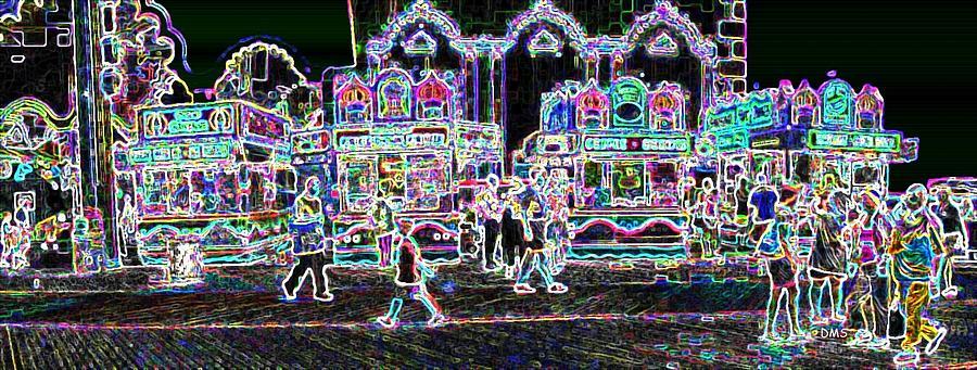 Atlantic City Neon Digital Art