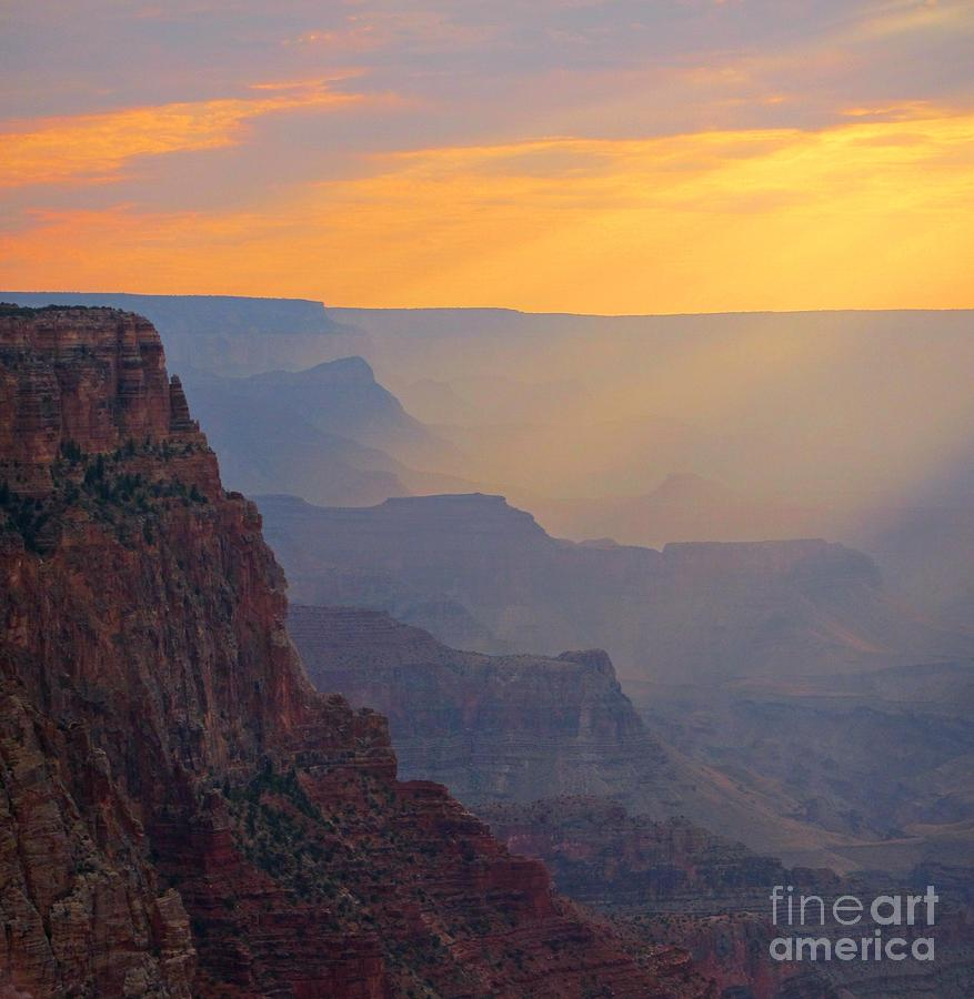 Atmospheric Perspective At The Grand Canyon John Malone