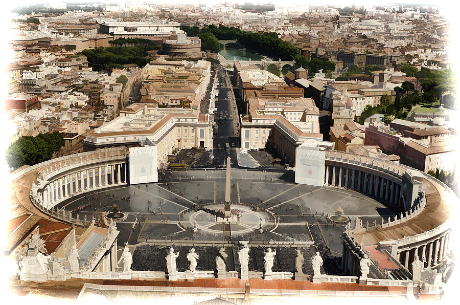 Atop The Domo - Vatican Photograph  - Atop The Domo - Vatican Fine Art Print