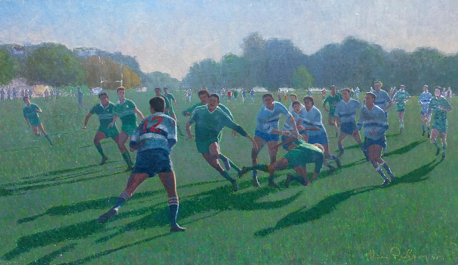 Sports Painting - Auckland Rugby by Terry Perham