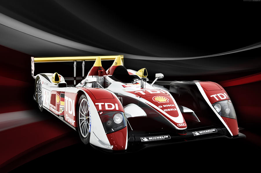Audi Digital Art - Audi R10 by Peter Chilelli