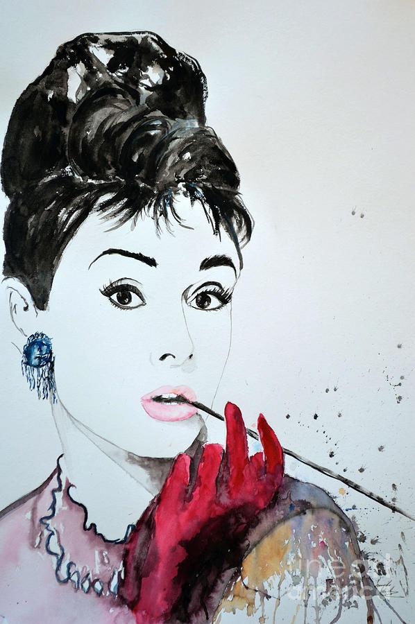 Audrey Hepburn Painting Painting - Audrey Hepburn - Original by Ismeta Gruenwald