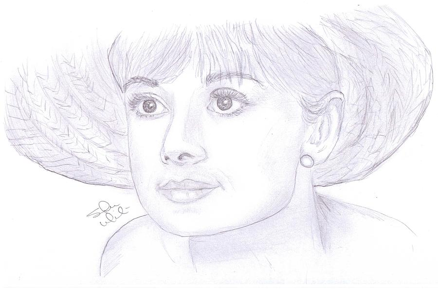 Audrey Hepburn Smile Drawing