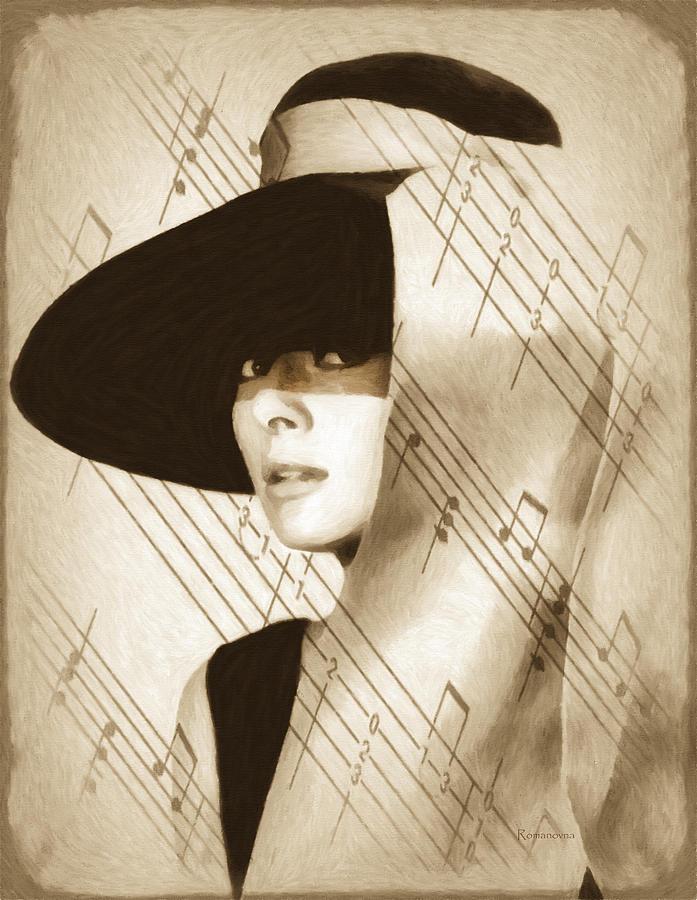 Audrey Hepburn Vintage Painting
