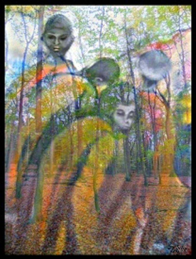 Mensch Painting - Auf Der Flucht by Gertrude Scheffler