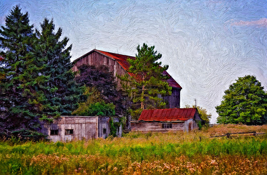 August Afternoon Impasto Photograph  - August Afternoon Impasto Fine Art Print