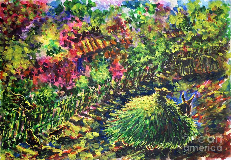 August Painting by Zaira Dzhaubaeva