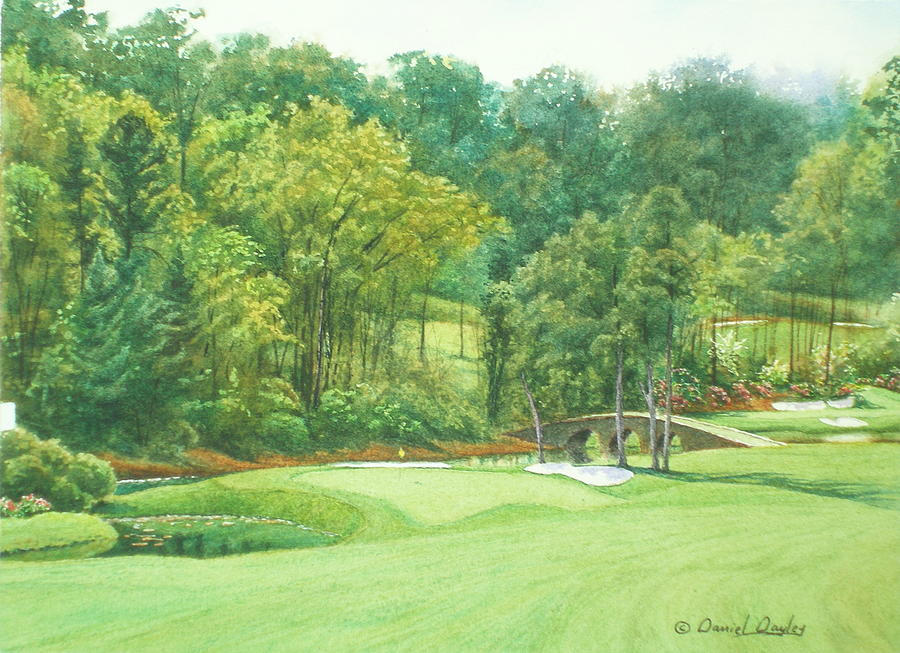 Augusta National 11th Hole Painting  - Augusta National 11th Hole Fine Art Print