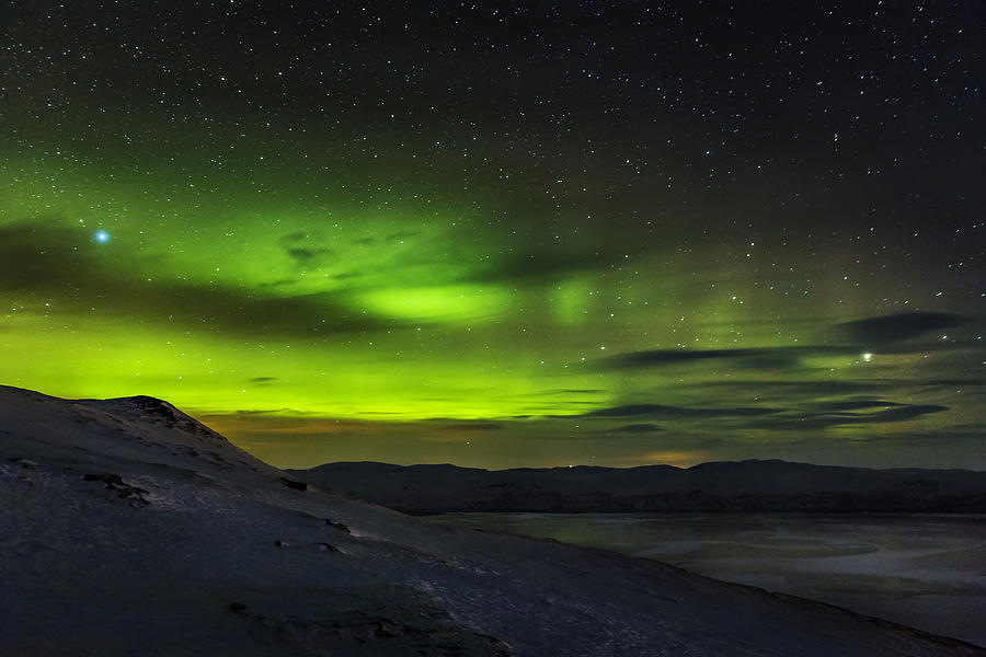 Aurora Borealis Or Northern Lights Seen Photograph By