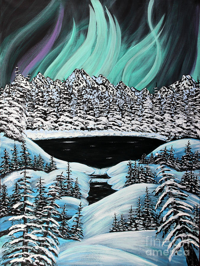Auroras Fiery Display Painting