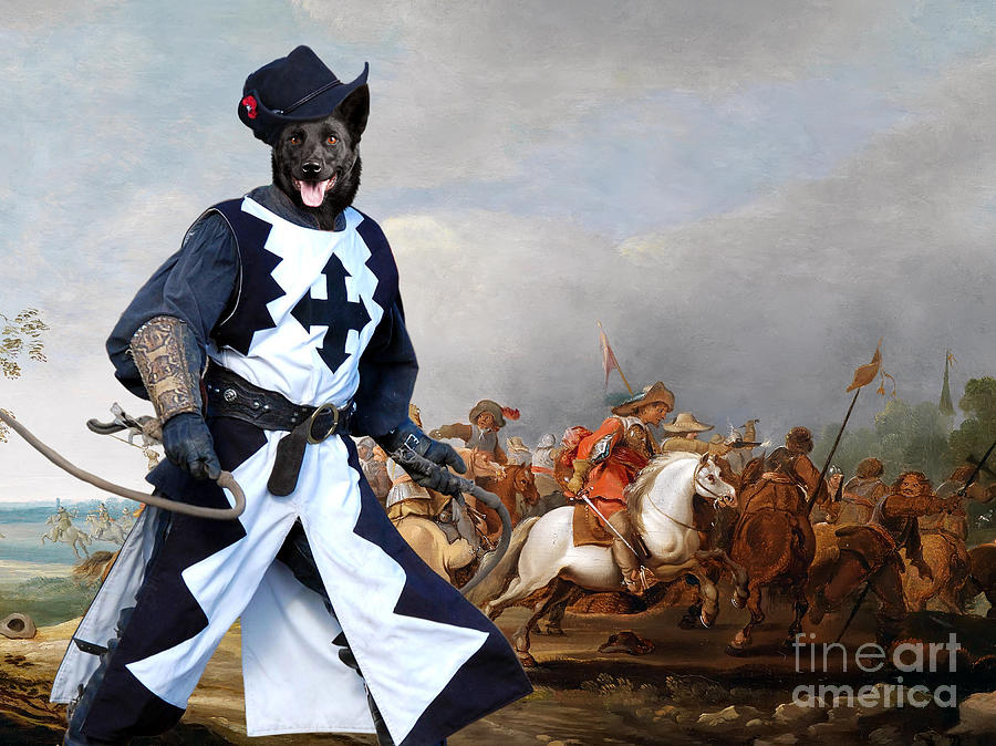 Australian Kelpie Canvas Print - A Cavalry Engagement During The Thirty Years War Painting