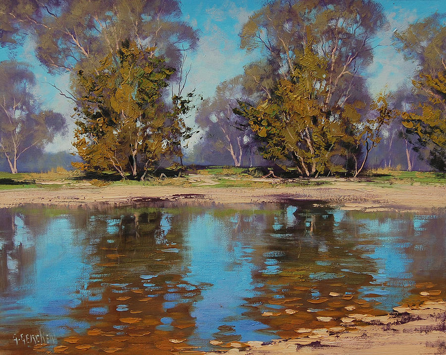 Australian River Painting