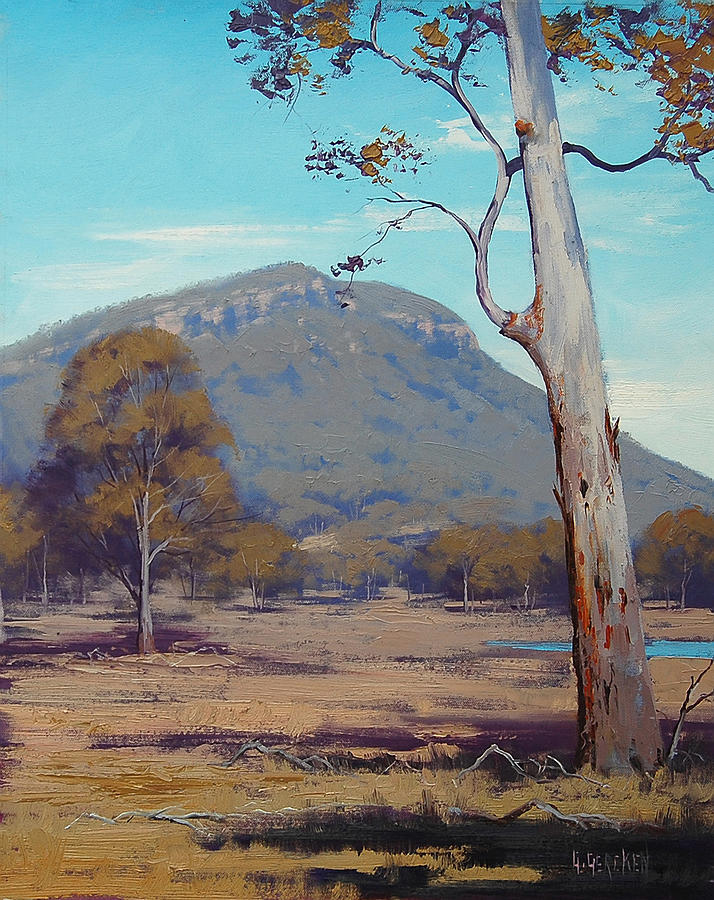 Central Tablelands Painting - Australian Summer Landscape by Graham Gercken