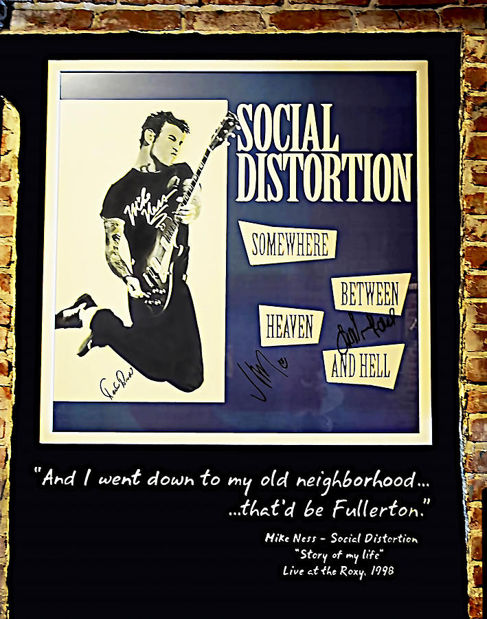 Autographed Poster Of Rock Legend Mike Ness  Photograph