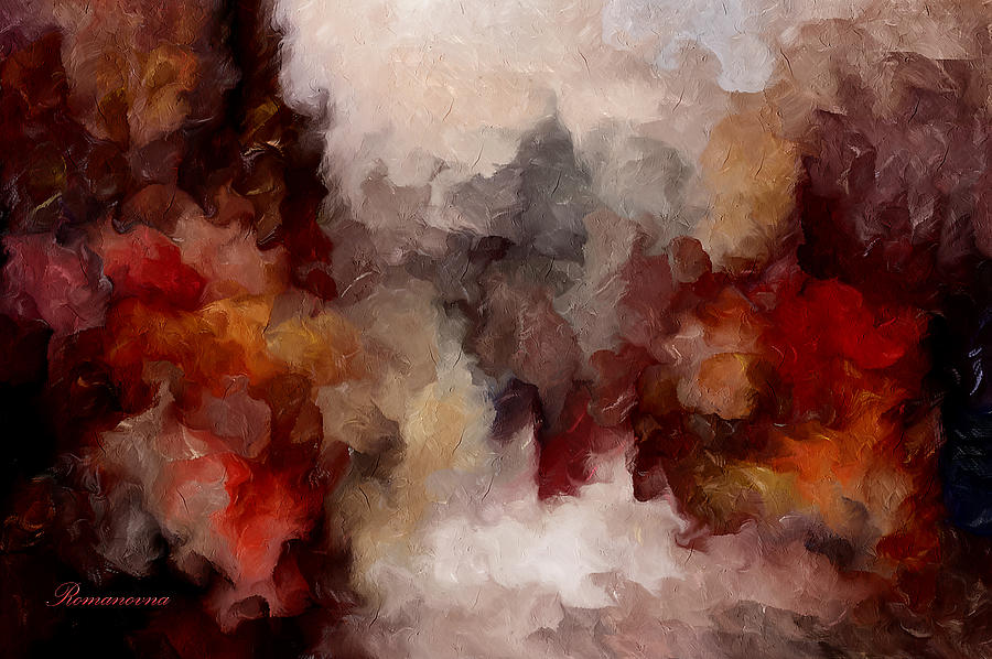 Autumn Abstract Mixed Media