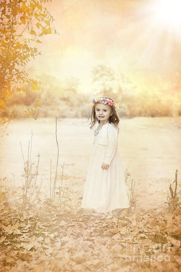 Childhood Photograph - Autumn Angel by Cindy Singleton