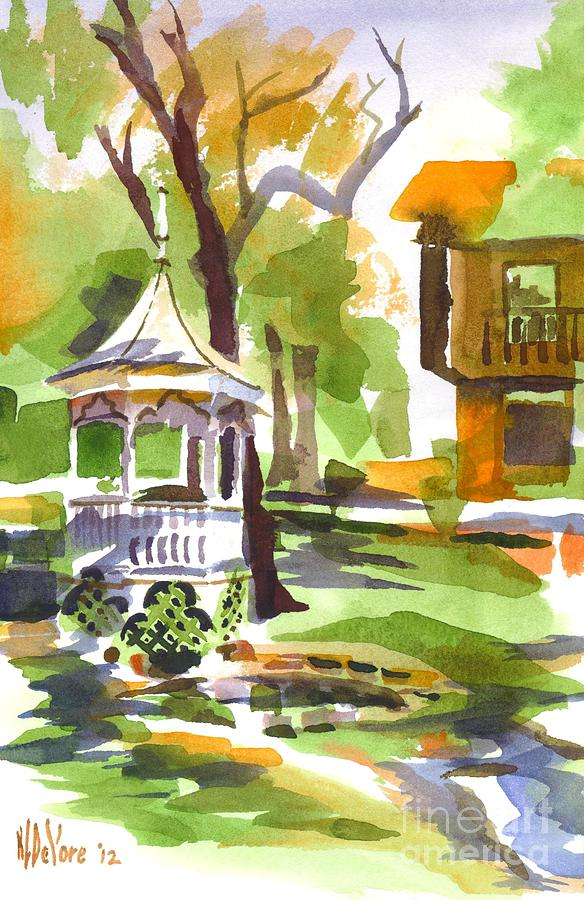 Autumn At The Rectory Painting