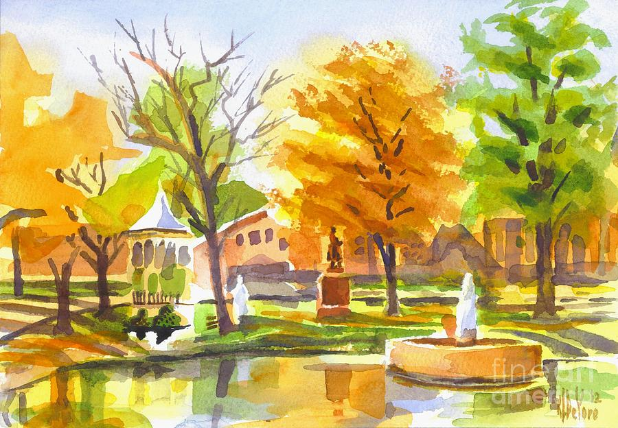 Autumn At The Villa Painting