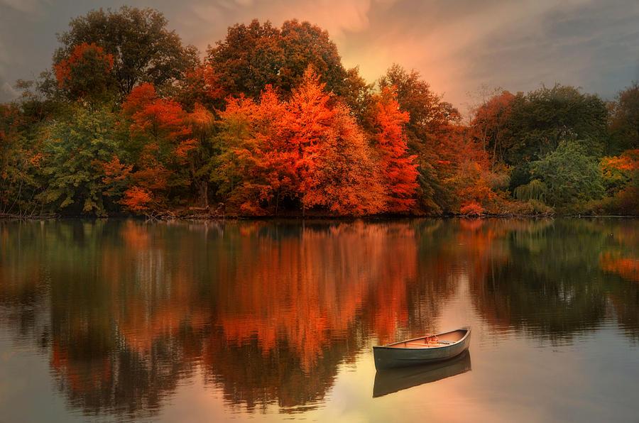 Autumn Canoe Photograph