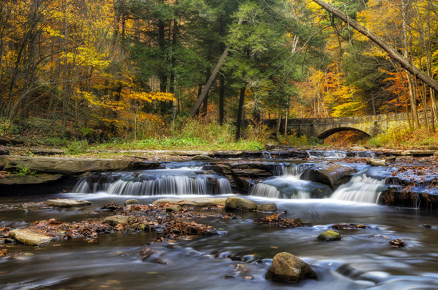 Autumn Cascades Photograph  - Autumn Cascades Fine Art Print