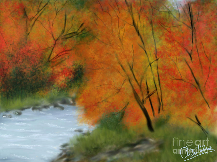 Autumn Digital Art  - Autumn Fine Art Print