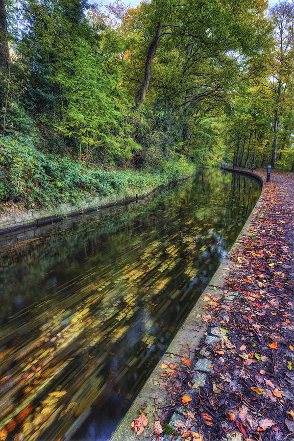 Canal Photograph - Autumn Colours Passing by Ian Mitchell