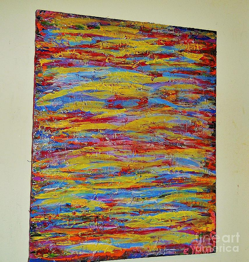 Autumn Creek Abstract  Painting