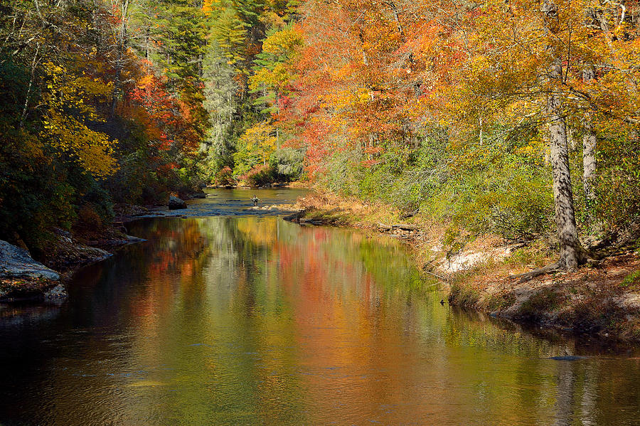 Autumn Photograph - Autumn Fly Fishing On The Chattooga River by Johan ...