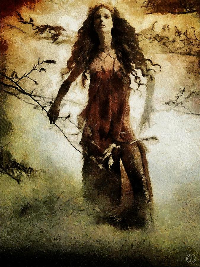 Autumn Goddess Digital Art