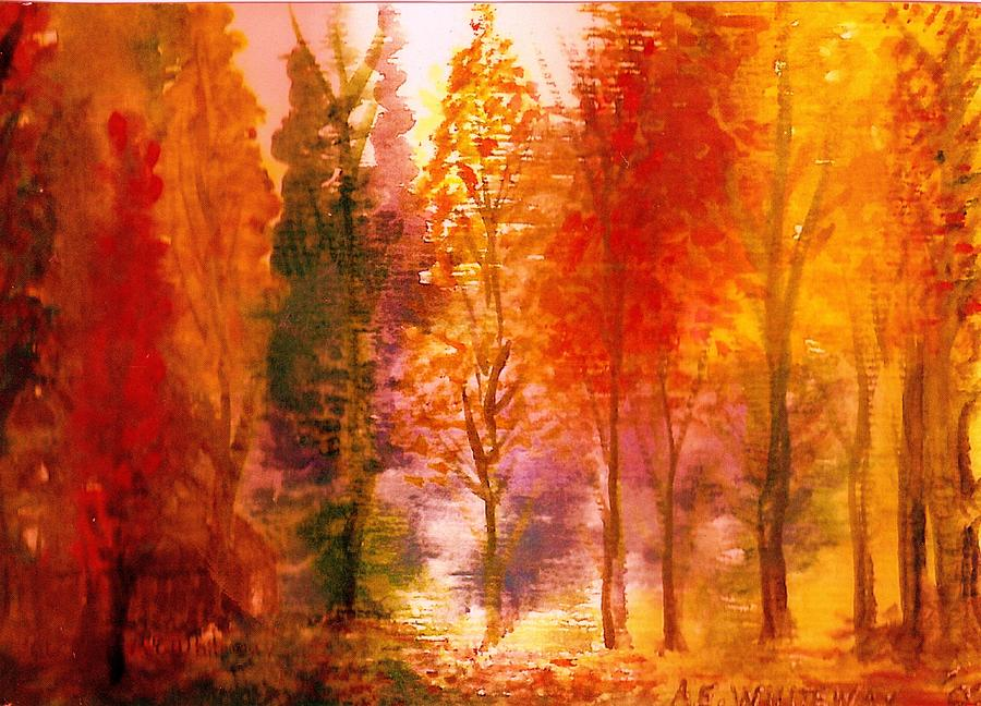 Autumn Painting - Autumn Hideaway Revisited by Anne-Elizabeth Whiteway