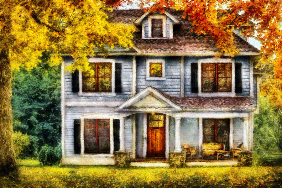Autumn - House - Cottage  Photograph