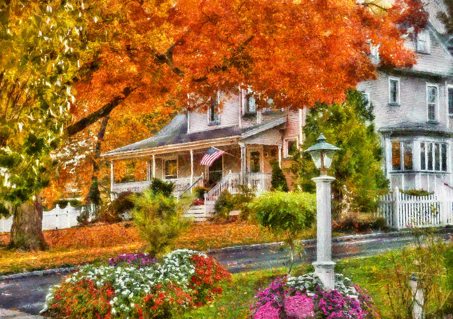 Hdr Photograph - Autumn - House - The Beauty Of Autumn by Mike Savad