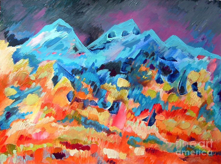 Autumn In Our Mountains Painting