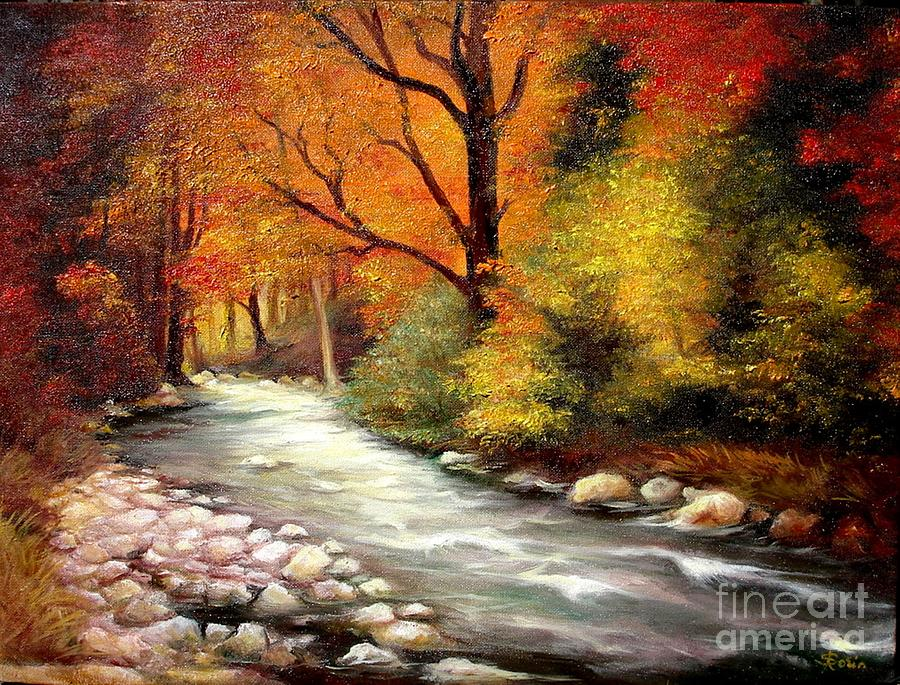 Autumn In The Forest Painting By Sorin Apostolescu