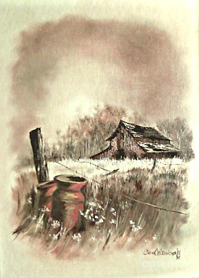 Farmscape Painting - Autumn In View At Mac Gregors Barn by Carol Wisniewski