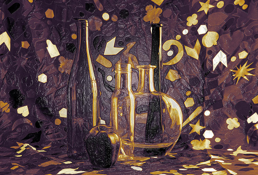 3d Modern Autumn Jazz Still Life