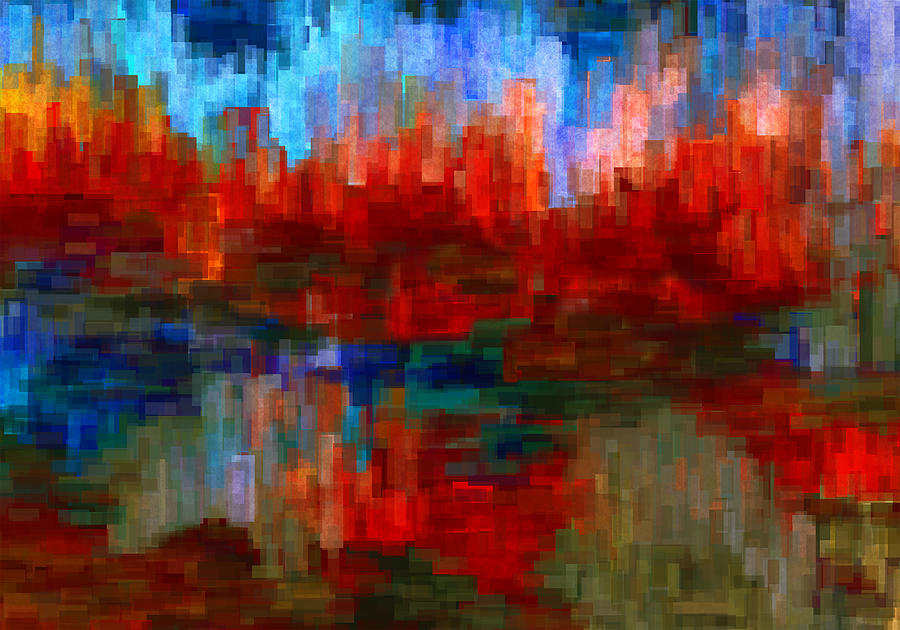 Abstract Painting - Autumn Leaves by Jack Zulli
