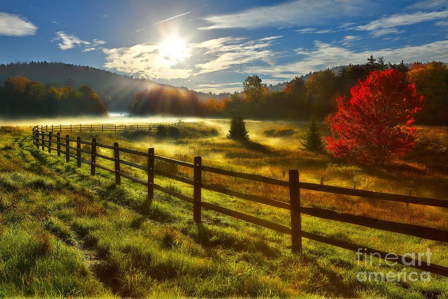 Autumn Meadow Sunrise I - West Virginia Photograph