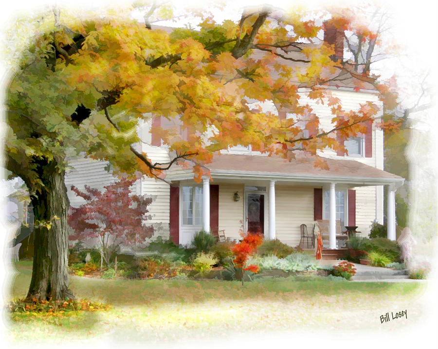 Autumn On The Farm Digital Art