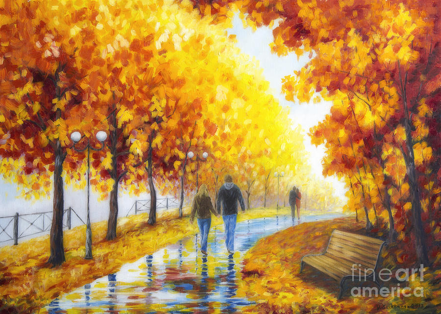 Art Painting - Autumn Parkway by Veikko Suikkanen