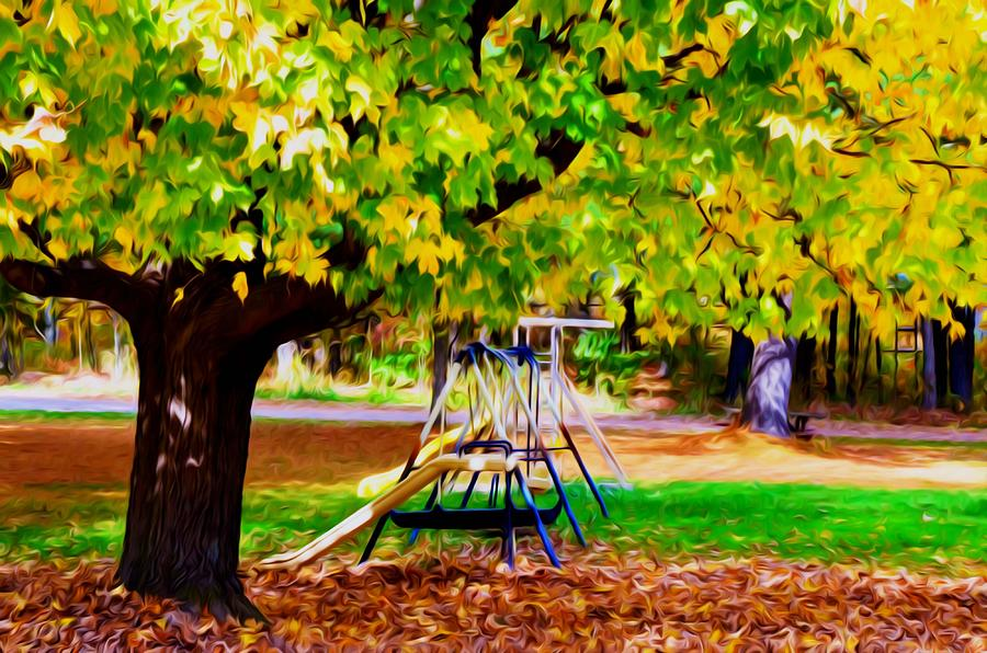 Autumn Playground 1 Painting