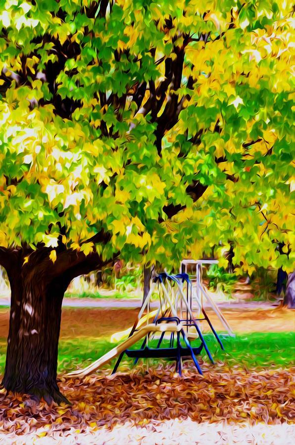 Autumn Playground Painting