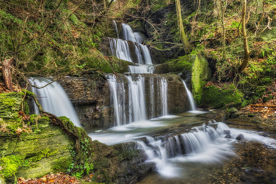 Autumn Waterfall Photograph