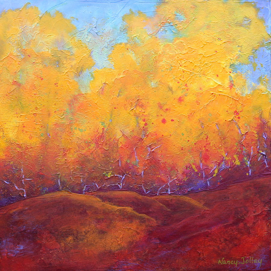 Autumn Painting - Autumns Blaze by Nancy Jolley