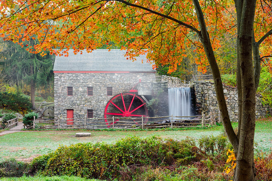 Auutmn At The Grist Mill Photograph  - Auutmn At The Grist Mill Fine Art Print