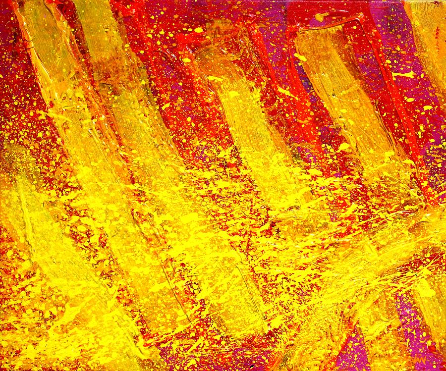Abstract Painting - Auvers Sur Oise by John  Nolan