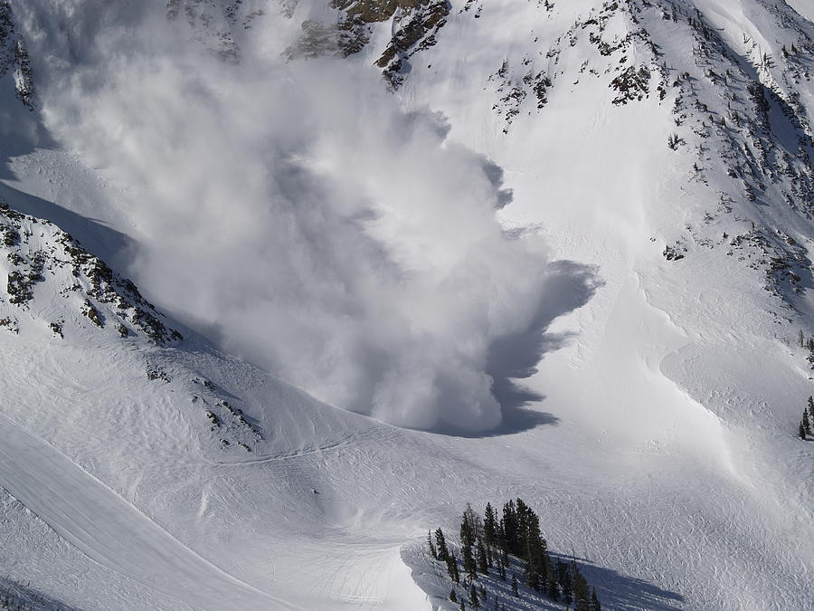 Snow Photograph - Avalanche Iv by Bill Gallagher